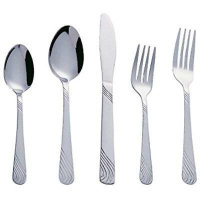 twist 20 piece stainless steel flatware silverware