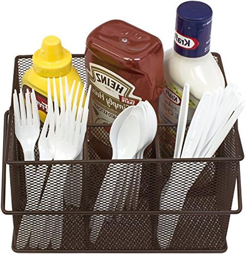 Sorbus Utensil Silverware, and Condiment — Multi-Purpose Steel Kitchen, Entertaining, Picnics, and much