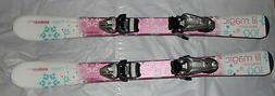 Elan Lil Magic kids girls skis 100cm + tyrolia SX 4.5 silver