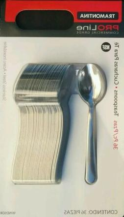 Tramontina Pro Line 36 Teaspoons Commercial Grade Stainless