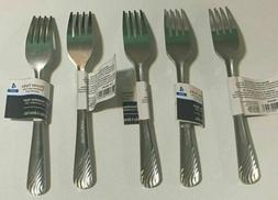 Lot Of 20 Heavy 18/0 Metal Dinner Forks Stainless Steel Flat