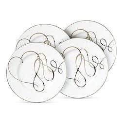 Mikasa Love Story Accent Plate, 8-Inch, Set of 4