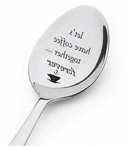 Lovers Coffee Spoon Heart Teaspoon Valentines Love Gift Engr