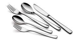 LUNA Silverware 20 Piece Flatware Cutlery Set, 18/10 Stainle