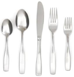 Cambridge Silversmiths Madison Satin 89-Piece Flatware Set,