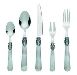 Bon Marble 20-Piece Stainless Steel Flatware Silverware Cutl