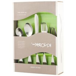 Knork Matte 20-Piece Flatware Set, Silver