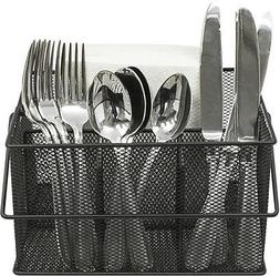 mesh silver condiment caddy kitchen supply utensil