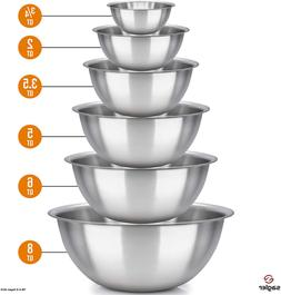 Mixing Bowl Set Stainless Steel Wash Basin Dinner Casserole