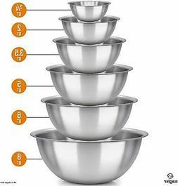sagler mixing bowls xl stainless steel bowl 4quart 5quart 6