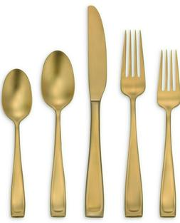 Oneida Moda Lux, Brushed Gold Stainless, 45-Piece Set with S