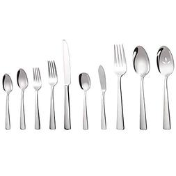 MineTom 45-Piece Stainless Steel Flatware Set, Mirror Polish