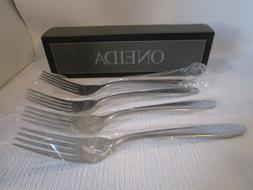 Oneida MOONCREST Stainless Flatware Set of 4 Dinner Forks Ne
