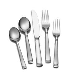Wallace I9781102 Napoli 102-Piece 18/10 Stainless Steel Flat