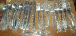 NEW Pfaltzgraff Collection 21 Piece Stainless Flatware Silve