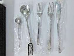 "NEW Alessi ""MU"" Polished 5 Piece Set Flatware - 1 setting"
