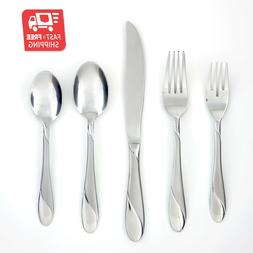 NEW Cambridge Silversmiths Swirl Sand 20 Piece Flatware Set