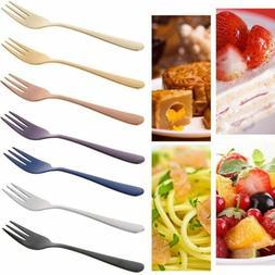 New Small Multi-color Flatware Fruit Mini Cutlery Dessert Fo
