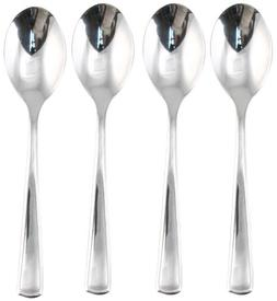 Hampton Forge Silversmiths Newport Mirror 4-Piece Teaspoons,