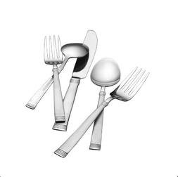Pfaltzgraff 5085330 Palisade Frost 80-Piece Stainless Steel