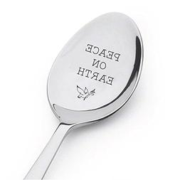 Peace on Earth Spoon-Holiday Serving Spoon - Table Decoratio