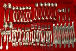 Pfaltzgraff Pearl Beaded Outline 69 Piece Stainless Flatware