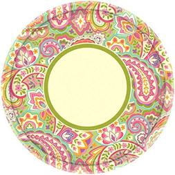 plate 10.5 inches round pretty paisley