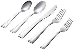 Farberware Poppy Mirror/Pebble 20-Piece Flatware Set, Servic