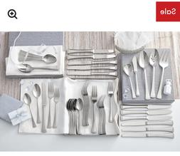 Portola 65 Piece Flatware Set, Service for 12 Stainless stee