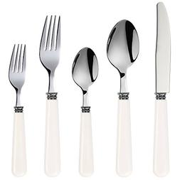 Q Squared Provence Stainless Steel with ABS Plastic Handles,