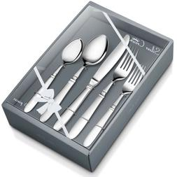 20 Piece Flatware Set, Stainless Steel Cutlery, Service for