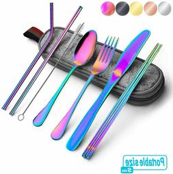 Rainbow Travel flatware set with Case Stainless Steel silver