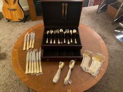 REED & BARTON 65 Piece Flatware.GOLD Bnwtags