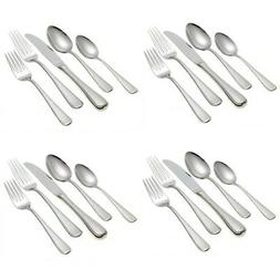 Gorham Ribbon Edge Frosted 20-Piece Stainless Steel Flatware