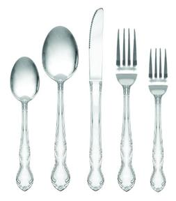 Royal Collection Stainless Steel Flatware Set, 60 Piece - Se