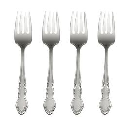 Oneida Satin Dover Salad Forks, Set of 4
