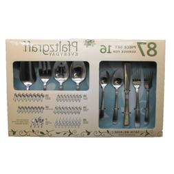 Pfaltzgraff Satin Melrose 87pc. Stainless Flatware Set