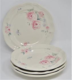 "Pfaltzgraff Secret Rose Dinner Plate 10 1/2"" - Set of 4"