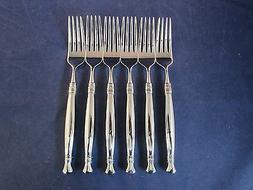 SET OF SIX - Oneida Stainless Flatware ADELPHIA Dinner Forks