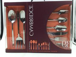 Cambridge Seyon Mirror 39 Piece Flatware Set, Service for 6