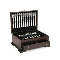 Silver Flatware Storage Chest Silverware Drawer Case Wood Vi