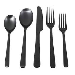 Cambridge Silversmith Julie Black Satin 5 Piece Stainless St