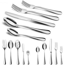 Silverware Set,MCIRCO 45 Pcs Flatware Set Serve for 8 Stainl