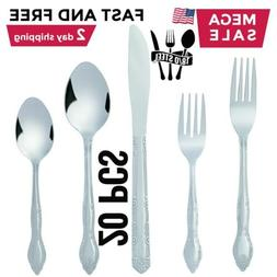 Silverware Set Flatware Cutlery Sets for 4 Stainless Steel K