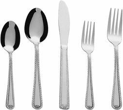 SILVERWARE SET Stainless Steel Flatware Cutlery Knife Fork S