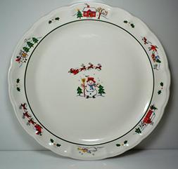 """Pfaltzgraff Snow Village Chop Plate Round Platter 12 1/8"""""""