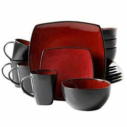 Gibson Soho Lounge 16Piece Square Reactive Glaze Dinnerware