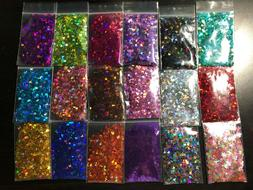 Solvent Resistant BUTTERFLY shape Glitter U Choose Color Nai