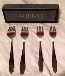 Oneida Stainless Flatware Mooncrest Dinner Forks Set OF 4 Ne