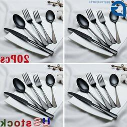 stainless steel dinner knife spoon silverware glossy